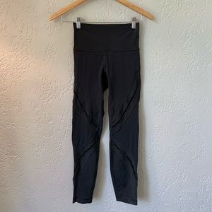 Lululemon Size 4 7/8 Tights Grey *LUXTREME*